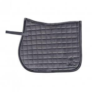Kingsland Mya Velvet Saddle Pad W/Coolmax Dressage Grå