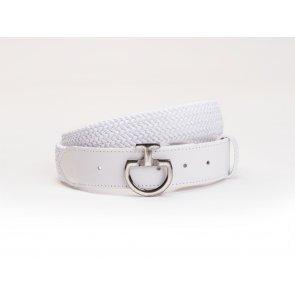 Cavalleria Toscana Women's Elastic Belt Clasp White