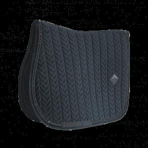 Kentucky Saddle Pad Velvet Pearls - Jumping Black
