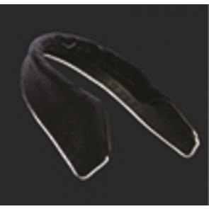 Manfredi krave sort velour med sølvkant