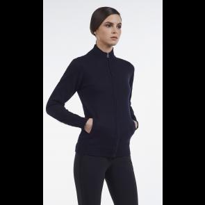 Cavalleria Toscana tech wool zip sweater sort