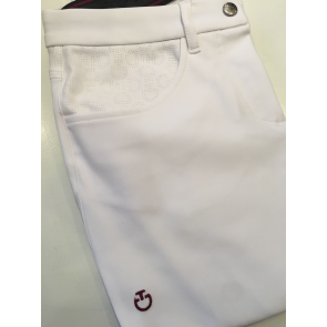 Cavalleria Toscana Micro Perforated Breeches hvid