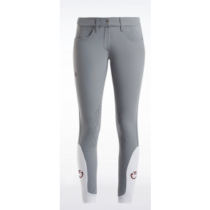Cavalleria Toscana Micro Perforated Breeches lysegrå