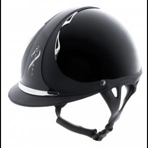 Antares Premium Glossy Ridehjelm Sort
