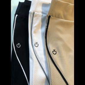 Cavalleria Toscana Ridebukser High Waist Perforated Insert leggins hvid