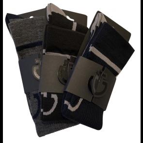 Cavalleria Toscana Wool Sock Navy/Grey
