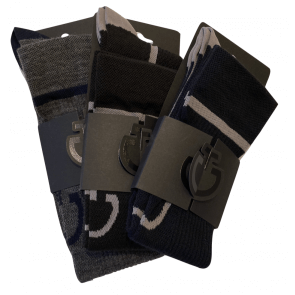 Cavalleria Toscana Wool Sock Grey/Navy