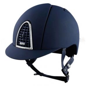 KEP ridehjelm Cromo Swarovski (blå)