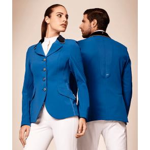 Manfredi stævnejakke royalblå med blå stribe