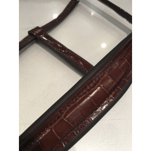 OS lædergrime brun kroko