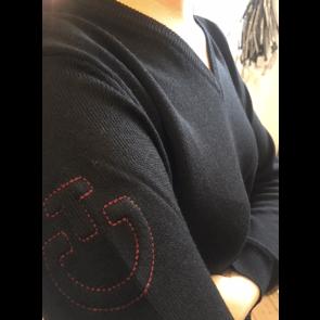Cavalleria Toscana Wool V-neck Sweater sort