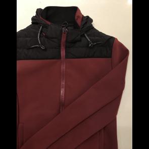 Cavalleria Toscana Nylon Quilted Jersey Sweatshirt bordeaux JR