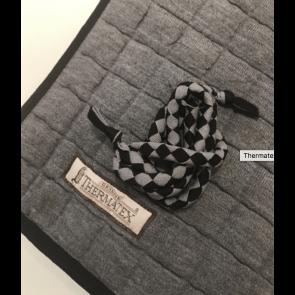 Thermatex dækken grå m. sort kant PONY