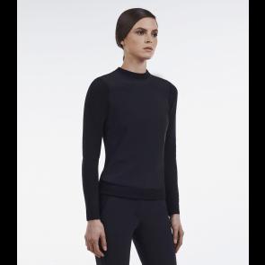 Cavalleria Toscana tech wool jersey sweater sort