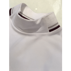 Cavalleria Toscana Ribbed Collar Polo Hvid