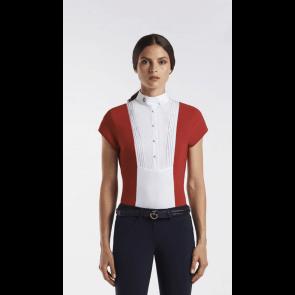 Cavalleria Toscana Techn Shirt W/BIB kortærmet rød