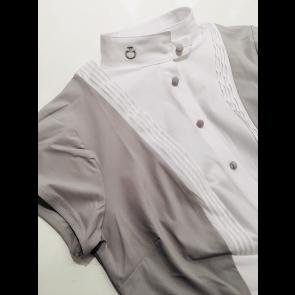 Cavalleria Toscana Techn Shirt W/BIB kortærmet grå