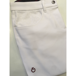 Cavalleria Toscana Micro Perforated Breeches hvid