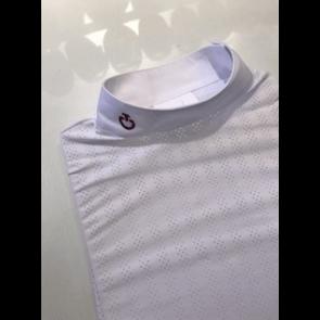 Cavalleria Toscana Slim Perforated Polo hvid