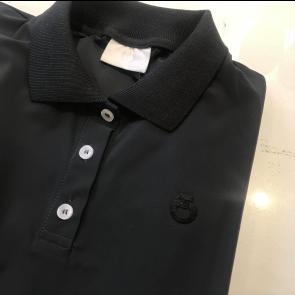Cavalleria Toscana rib knit back polo koksgrå