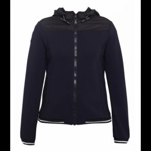 Cavalleria Toscana Nylon Quilted Jersey Sweatshirt navy JR