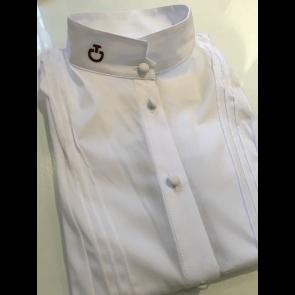 Cavalleria Toscana Young Rider shirt w/bib S/S hvid JR