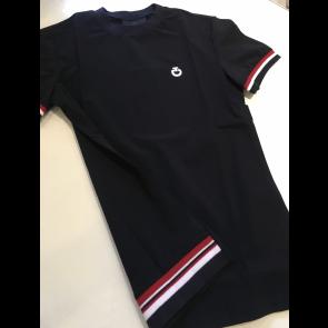 Cavalleria Toscana stripe rib knit waistband t-shirt navy JR