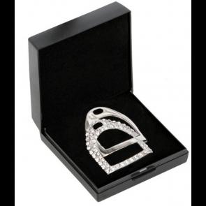 SD Design Stigbøjlebroche Crystal