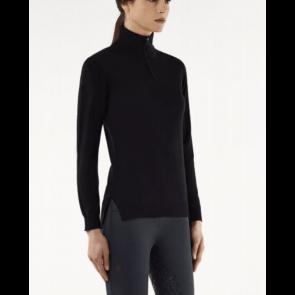 Cavalleria Toscana Tech wool zip turtleneck sort