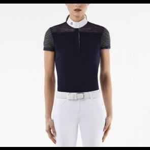 Cavalleria Toscana transparant wool stripe jersey navy