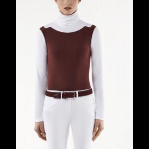 Cavalleria Toscana jersey fleece turtleneck polo bordeaux