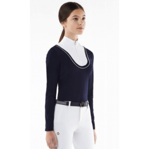 Cavalleria Toscana Retro Ski Turtleneck JR Navy