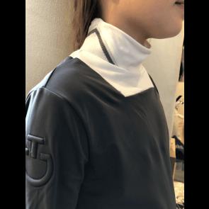 Cavalleria Toscana Rib Knit Turtleneck Grå