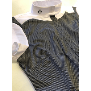 Cavalleria Toscana Dotted Line Print Jersey S/S Shirt