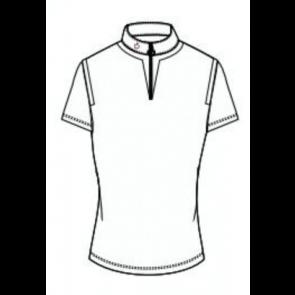 Cavalleria Toscana Jersey Insert Zip Polo Hvid JR