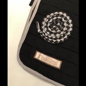 Thermatex lændedækken sort med grå kant