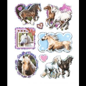 3D Klistermærker med heste