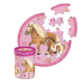 Sødt Mini-Pony Puslespil med pony og føl