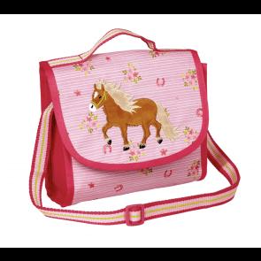 Lyserød Skuldertaske med Pony