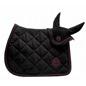 U Black - Black to Black Jumping Saddle Pad Bordeaux
