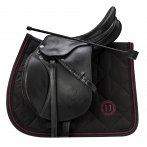U Black - Black to Black Dressage Saddle Pad Bordeaux