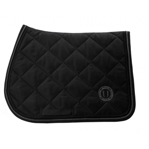 U Black - Black to Black Jumping Saddle Pad Grey