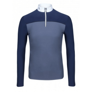 Cavalleria Toscana Bi-Color Competition Polo Grey/Blue
