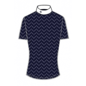 Cavalleria Toscana Perforated Wave Jersey Comp. polo Klar Blå