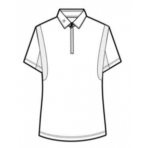 Cavalleria Toscana Competition Polo w. Mesh Insert Herre Hvid