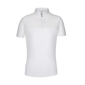 Cavalleria Toscana Piquet Zip Polo w. Perforated Sleeves Hvid JR