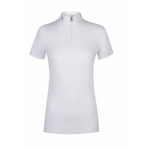 Cavalleria Toscana S/S Comp. Polo w. Knit Jaquard Back JR
