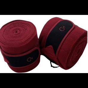 Cavalleria Toscana Cotton Border Fleece CT Bandages Bordeaux/Sort