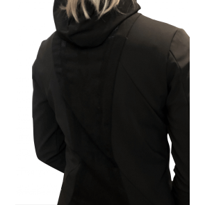 Cavalleria Toscana Jersey Jacket W/Knit Jaquard Inserts Black
