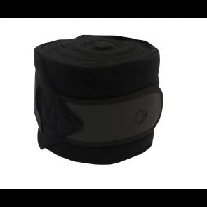 Cavalleria Toscana Jersey Stripe Fleece Bandager Grå/Sort